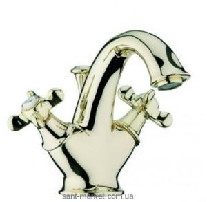 Смеситель для раковины двухвентильный с донным клапаном Webert Ottocento золото OT700101.010