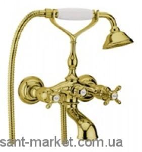 Смеситель двухвентильный с душем Webert коллекция Ottocento золото OT720201.010