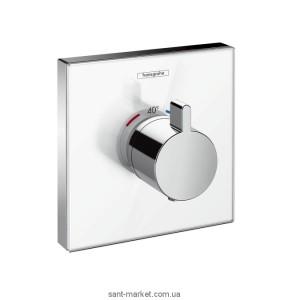 Смеситель для душа встраиваемый с термостатом Hansgrohe коллекция Shower Select хром/белый 15734400