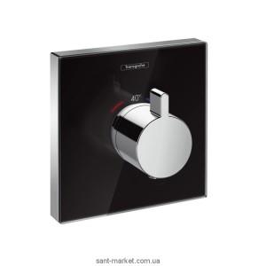 Смеситель для душа встраиваемый с термостатом Hansgrohe коллекция Shower Select черный 15734600