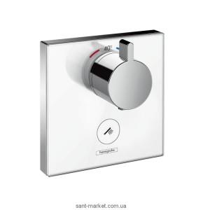 Смеситель для душа встраиваемый с термостатом Hansgrohe коллекция Shower Select белый/хром 15735400