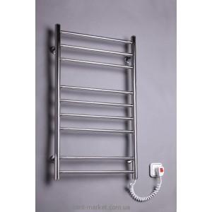 Электрический полотенцесушитель Elna 480х880х80 хром Лесенка - 9 (нерж)