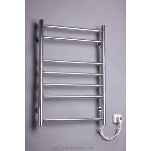Электрический полотенцесушитель Elna 480х720х80 хром Лесенка-7 (нерж)