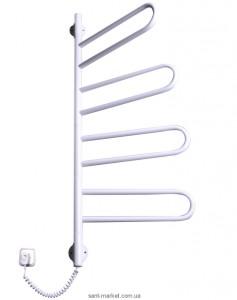 Электрический полотенцесушитель Elna 430х1040х50 Е-образный Флюгер-4 поворотный (белый)