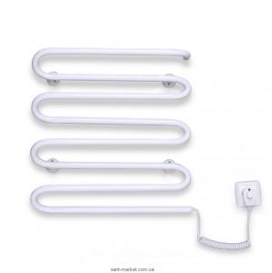 Электрический полотенцесушитель Elna 500х450х120 змейка Волна 8 (белая)