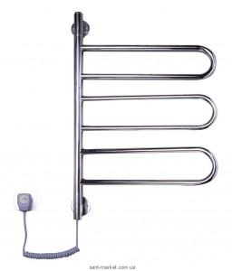 Электрический полотенцесушитель Elna 430х730х45 Е-образный хром Флюгер-3 поворотный (нерж)