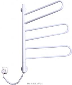 Электрический полотенцесушитель Elna 430х730х45 Е-образный Флюгер-3 поворотный (белый)