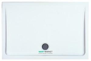 Душевой поддон керамический прямоугльный Laufen  Merano 110x75х6.5 белый 8.5495.2.000.000.3