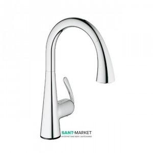 Смеситель для кухни с выдвижной лейкой сенсорный Grohe Zedra Touch однорычажный 30219000