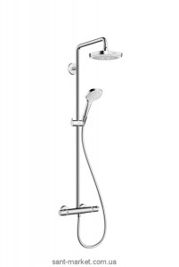 Hansgrohe Душевая система Croma Select E 180 2jet Showerpipe EcoSmart 9 л/мин