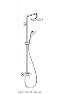 Hansgrohe Душевая система Croma Select E 180 2jet Showerpipe с однорычажным смесителем 27258400