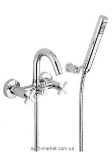 Смеситель двухвентильный для ванны с душем Bugnatese коллекция Naxos хром NAXCR7602