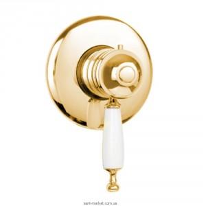 Смеситель для душа с термостатом скрытого монтажа Bugnatese коллекция Oxford золото OXDO6377