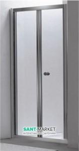 Душевая дверь в нишу Eger стеклянная раскладная 80х185 599-163-80
