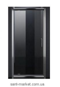 Душевая дверь в нишу Eger стеклянная распашная 80х185 599-150-80