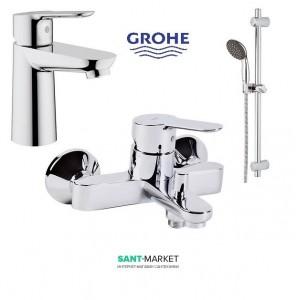Grohe Набор смесителей для ванны BauEdge 123265S