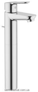 Смеситель для раковины однорычажный высокий с донным клапаном Grohe BauEdge хром 32860000