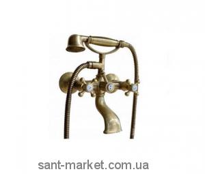 Смеситель двухвентильный для ванны с душем Bugnatese коллекция Old'800 бронза OLDBR002