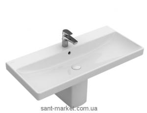 Раковина для ванной подвесная Villeroy & Boch коллекция Avento белая 4156A201