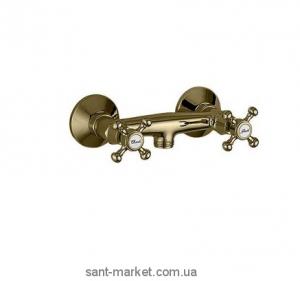 Смеситель для душа настенный двухвентильный Bugnatese коллекция Lady бронза LADBR946