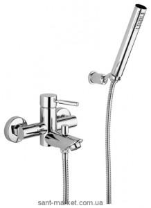 Смеситель однорычажный для ванны с душем Bugnatese коллекция Kobuk хром KOBCR2202