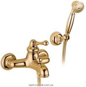 Смеситель однорычажный для ванны с душем Bugnatese коллекция Lem бронза LEMBR1902