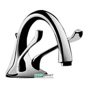 Смеситель для раковины двухрычажный с донным клапаном Ideal Standard Renzo Piano хром N9750AA