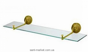All.pe Opal Стеклянная полочка с настенными держателями золото OR OP018