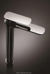 Смеситель для раковины однорычажный высокий La Torre Laghi хром/белый 44501 CS chrome/white