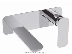 Смеситель для раковины однорычажный настенный La Torre коллекция Laghi хром/белый 44200 chrome/white
