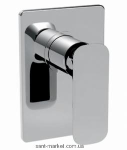 Смеситель для душа встраиваемый La Torre коллекция Laghi белый/хром 44050 chrome/white