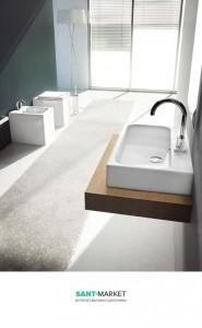 Раковина для ванной подвесная Artceram коллекция Block белая BKL001