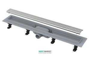 Желоб водосточный AlcaPlast боковой выпуск комбинированный затвор регулируемый APZ9-950M
