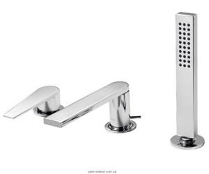 Смеситель однорычажный на борт ванны с душем Tres коллекция Class хром 205.161.03