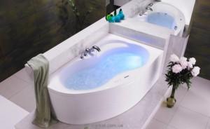 Ванна акриловая угловая PoolSpa коллекция Mistral 150х105х60 R PWA6C10ZS000000