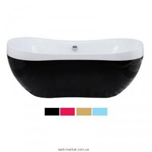 Ванна акриловая овальная Volle 170х80х65 12-22-116 BW цельнолитая