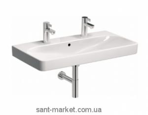 Раковина для ванной подвесная двойная KOLO коллекция Traffic белая L91590000