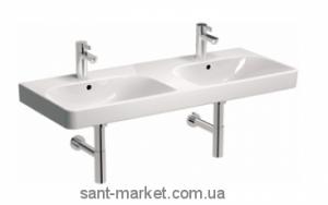 Раковина для ванной подвесная двойная KOLO коллекция Traffic белая L91521000