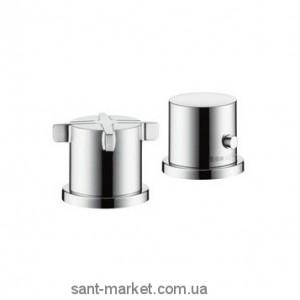 Смеситель с термостатом двухвентильный на борт ванны Hansgrohe коллекция Axor Citterio E хром 36412000
