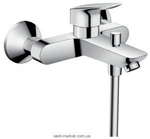 Смеситель однорычажный для ванны с коротким изливом Hansgrohe коллекция Logis хром 71401000