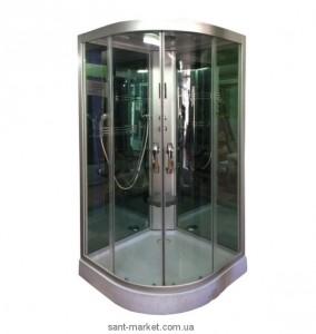 Гидробокс угловой Diamond HT-303 98х98х220 с низким поддоном