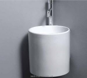 Раковина для ванной подвесная AeT коллекция Idea Cylinder белая L315