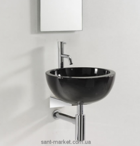 Раковина для ванной накладная AeT коллекция Motivi Spot Middle Plus черная L272