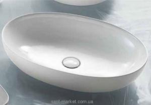 Раковина для ванной накладная AeT коллекция Oval Elite белый L600