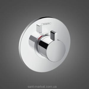 Смеситель с термостатом скрытый (встраиваемый) Hansgrohe коллекция Ecostat S хром 15756000