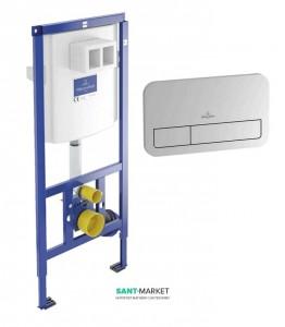 Система инсталляции для подвесного унитаза Villeroy & Boch ViConnect 3в1 52,5х112х13,5 92249061
