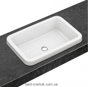 Раковина для ванной встраиваемая Villeroy&Boch коллекция Architectura белая 41676001