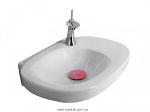 Раковина для ванной подвесная Laufen коллекция Mimo бело-розовая H8105560451041
