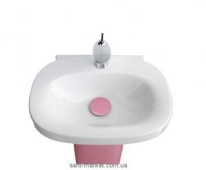 Раковина для ванной на пьедестал Laufen коллекция Mimo бело-розовая H8115570451041