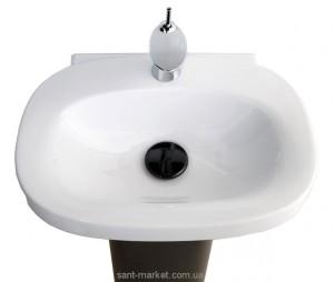 Раковина для ванной на пьедестал Laufen коллекция Mimo черно-белая H8115530171041